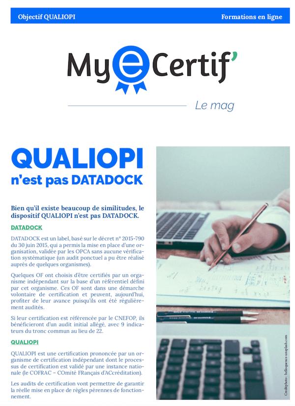 MyEcertif ebook2 qualiopi vs datadock